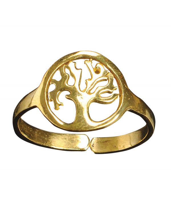Tree of life rings Gold