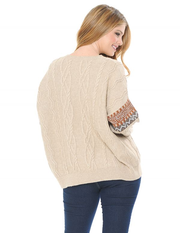 Cable Knit Pull Over Sweater